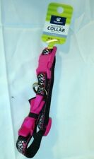 """TOP PAW ~ ADJUSTABLE COLLAR ~ ANIMAL PRINT with PINK BOW ~ SMALL 10"""" to 14"""" *NEW"""