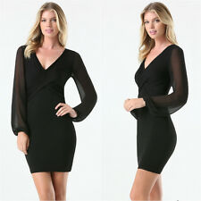 BEBE BLACK DAHLIA SHEER LONG SLEEVE STRETCH DRESS NEW $99 XSMALL XS