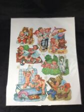 Vintage 1930s Papercraft Toddlers & Zoo Pictures Feeding Animals Scrapbooking
