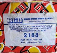 Pompa Benzina Alimentazione Carburante Fiat 126 bis con motore 704