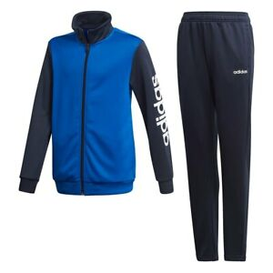 adidas boys navy/royal blue Linear tracksuit. Warm up suit. Various sizes