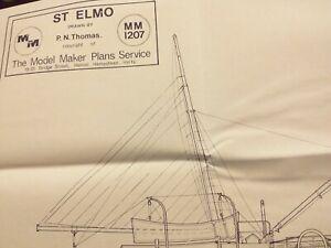 """1914 Steam Trawler """"Elmo"""" 1:48 M.M. Plan by P.N.Thomas unused"""