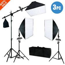 """900W 24"""" Softbox Light Stand Continuous Lighting Kit Photo Studio Photography"""