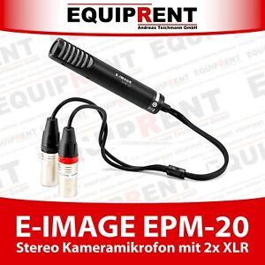 E-IMAGE EPM-20 Stereo Kameramikrofon mit 2x XLR Anschluss (EQ885)