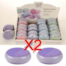 Pumice Foot Stone Scrubber Dead Skin Callus Remover Care - Various Colours x 2