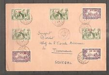 LETTRE SENEGAL AOF COLONIES FRANCE LIBRE 1943 OBLITERE USED