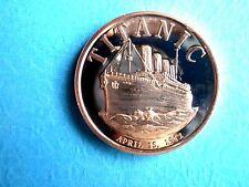 Titanic April 15,  1912 1 oz .999 Copper Round