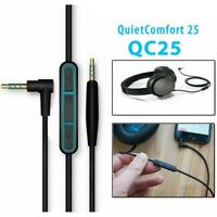 Replacement Audio Cable Wire Cord w/Mic For QuietComfort 25 QC25 F5X4