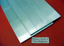 "2 Pieces 1/4"" X 6"" ALUMINUM 6061 T6511 FLAT BAR 10.5"" long .25"" Plate Mill Stock"
