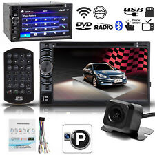 """Double 2 Din 6.2"""" Car Stereo Dvd Cd Mp3 Hd Player In Dash Bluetooth Radio Camera(Fits: Charger)"""