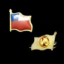 Chile Flag Pin Brooch Gold Plated Flag Badge Collectible Lapel Pin Tie Hat Pin