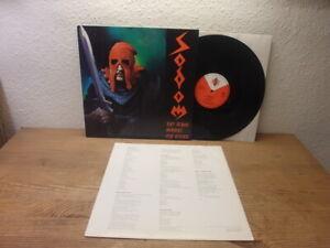 SODOM In The Sign Of Evil 1985 GERMANY Mini LP DEVILS GAME 1st ED w OIS NM