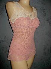 *Claire Pettibone Lingerie Set Brenda Pink Cami Short Vintage Look New 2 Piece S
