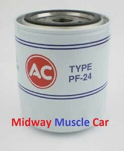 correct classic AC Delco PF24 Oil Filter 67-74 Buick Olds 442 Cutlass GS Skylark
