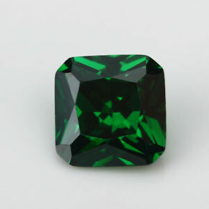 10x10mm 7.26ct Natural Mined Green Emerald Gems Square Cut VVS AAA Loose Gems