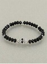 Crystal Skull Bead Stretch Bracelet