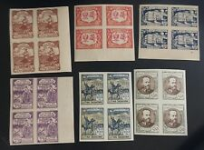 Central Lithuania, 1922, 53-58, MNH Imperf, Block of 4