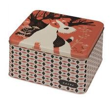 John Hanna - Country Fair Dog Storage Tin - Retro Style Square Tin