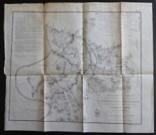 1865 Battlefields In Front of Nashville December 15th & 16th, 1864 Civil War Map