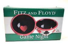 Fitz and Floyd Game Night Nut Bowls Set of 2 In Original Package 2""