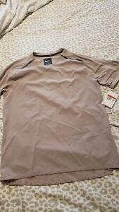 Nike Tech Pack Reflective Beige Running Shirt Mens Size L