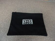 Vintage 1987 Disney Mickey Mouse 1928 Black Zippered Bag Pouch New 100% Cotton