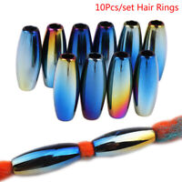 10Pcs/Set DIY Hair Braid Dreadlock Dread Beads Pins Rings Cuff Clips Jewelry_ne