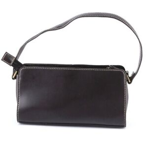 LIZ CLAIBORNE Brown Clutch Small Purse Handbag Vegan Leather EUC