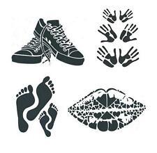 Schablone A4 Young Style Hände Füße, zum Auftragen von Farbe Heike Schäfer