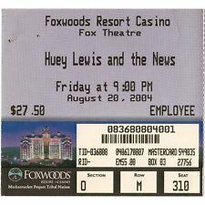 HUEY LEWIS & THE NEWS Concert Ticket Stub MASHANTUCKET CT 8/20/04 FOXWOODS Rare