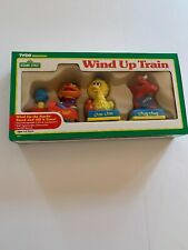RARE Sesame Street Toy Train Wind-up Ernie,Big Bird, Elmo Grover Tyco