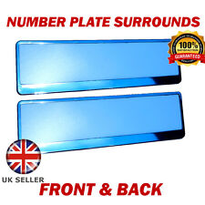 2x Number Plate Surrounds ABS Holder Chrome for Hyundai Tucson