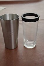 Chopin Vodka Shaker Tin w/Pint Glass Stainless Steel, New in Box