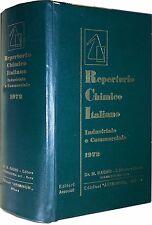 REPERTORIO CHIMICO ITALIANO Industriale e Commerciale Dr. M.Ragno 1972