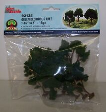 "JTT Scenery Green Deciduous Trees 1.5""-2"",  10/pk Super Scenic, 4/pk 92128"