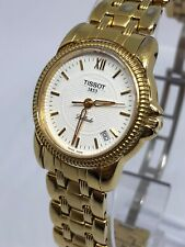 Ladies Tissot Gold Plated Ballade Jeweled Watch In Excellent Condition.