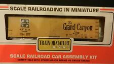 "Train Miniature HO Vintage NIB Santa Fe ""Grand Canyon"" Wood Reefer Kit"
