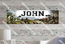 Personalized/Customized US Army Name Poster Wall Art Decoration Banner