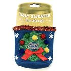 NEW Silvestri by Demdaco Ugly Christmas Xmas sweater can beer coozie koozie NWT
