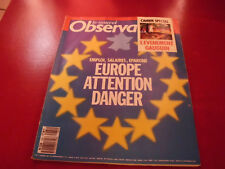 LE NOUVEL OBSERVATEUR N°1261 1989  EUROPE ATTENTION DANGER
