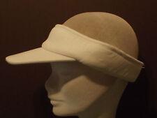 Peso ligero blanco señoras visera de sol, ideal para golfistas