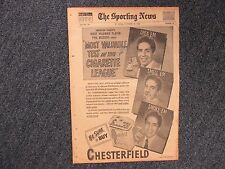 PHIL RIZZUTO(Died in 2007)SIGNED Chesterfield Ad-Sporting News-Dated 11/22/1950