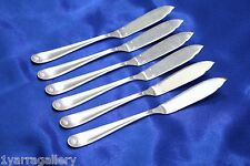"SET OF 6 Christofle BERAIN Coquille Shell Silver-plated Fish Knive 7 3/4"" FRANCE"