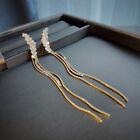 Luxury Crystal Tassel Ear Stud Earrings Drop Dangle Women Wedding Jewelry Gift