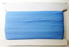 25mm BIAS BINDING - BLUE - 50 metres on card - poly/cotton