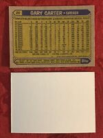 1987 TOPPS GARY CARTER #20 BASEBALL ERROR CARD BLANK FRONT NRMT-MINT-METS