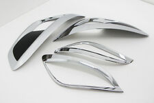 Chrome & Black Fog Lamp Reflector Garnish For 10 11 12 13 Hyundai Tucson ix35