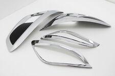 Chrome & Black Fog Lamp Reflector Garnish For 10 11 12 13 Hyundai Tucson ix35