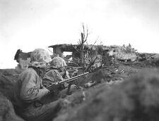 WWII Photo, Iwo Jima Marines BAR & Garand, WW2 USMC World War Two Pacific Marine