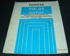 Werkstatthandbuch Toyota Supra Typ MA70 7M-GE Motor Abgaskontrollsystem 1989